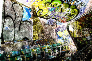 Miami Marine Stadium Seating Digital Photo Collage by GRAMSTINE Art