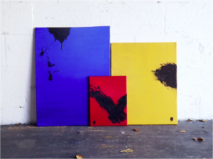 Vendetta Triptych, Oil on Canvas, Miami Beach, Florida 2014