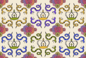 Serpentine Queen Textile Design