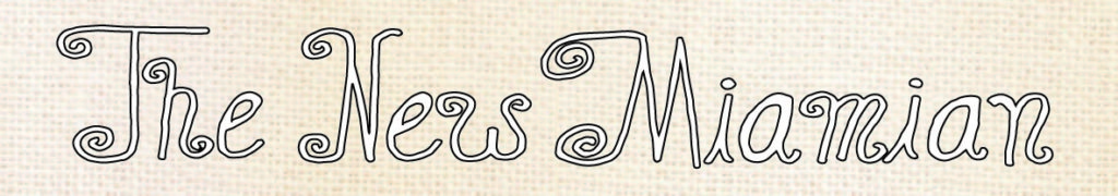 Scan of The New Miamian Seventies Script Logo (2015)