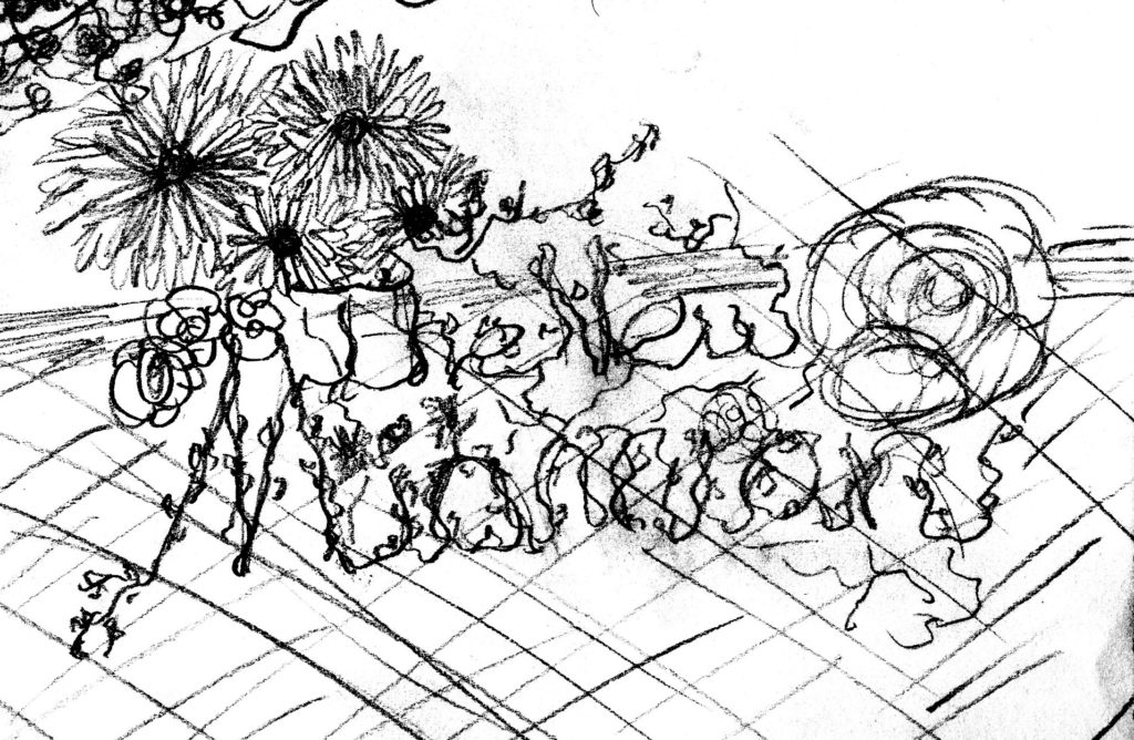 Scan of Floral Sketch for The New Miamian Logo (2014)